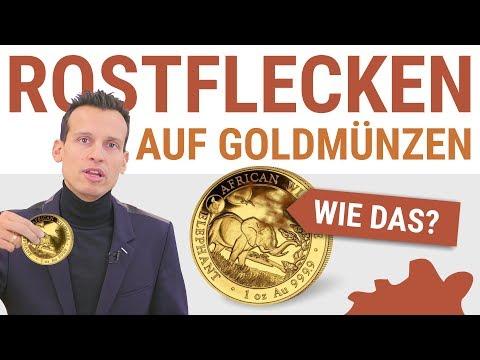 Rostflecken auf Goldmünzen?