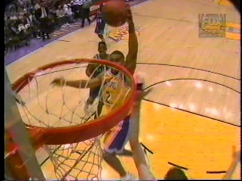 Rookie Derek Fisher (21pts/4asts/2 Dunks) Vs. Mavericks (1997)