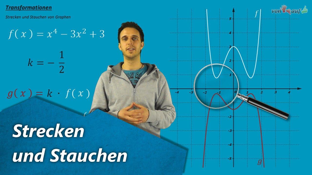 Graph strecken und stauchen - Funktionen - Streckfaktor mit ...