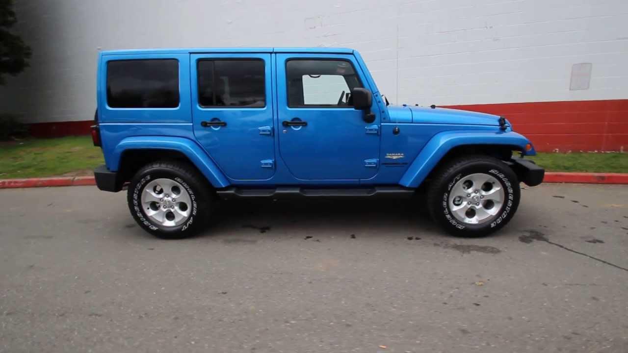 2015 jeep wrangler unlimited sahara | hydro blue | fl655345