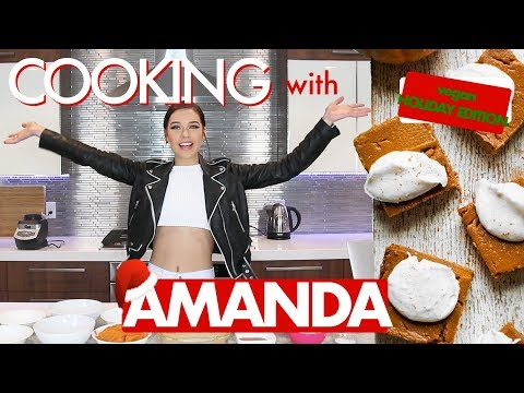 Cooking With Amanda! (Vegan Pumpkin Bars)