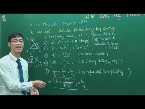 Hệ thức lượng trong tam giác vuông - Hình 10 - Thầy Nguyễn Công Chính