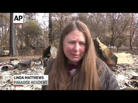 Residents return to California town leveled by wildfire