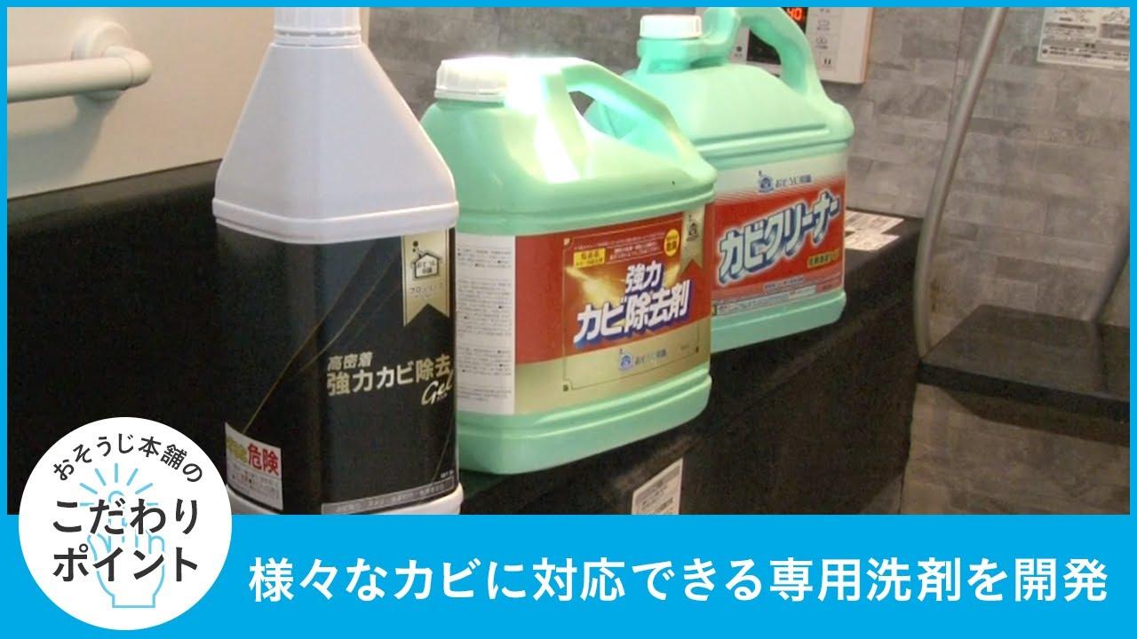 3種類のカビ除去剤を駆使して洗浄