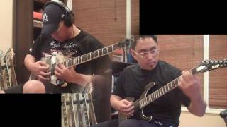 Public Display of Dismemberment - Slayer - Guitar Cover with solos by Freddy Delacruz ESP SRC STEF-6