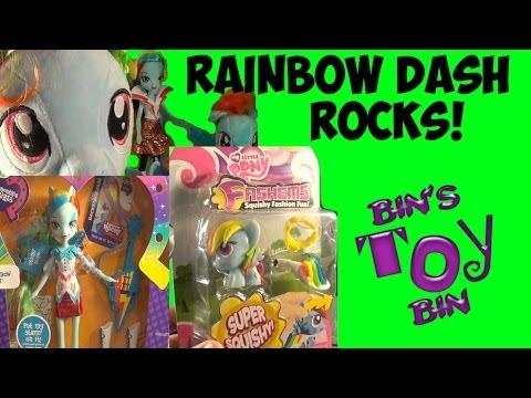 Rainbow Dash Rocks! Equestria Girl Doll & Dress Up Fash 'Em My Little Pony Review! by Bin's Toy Bin