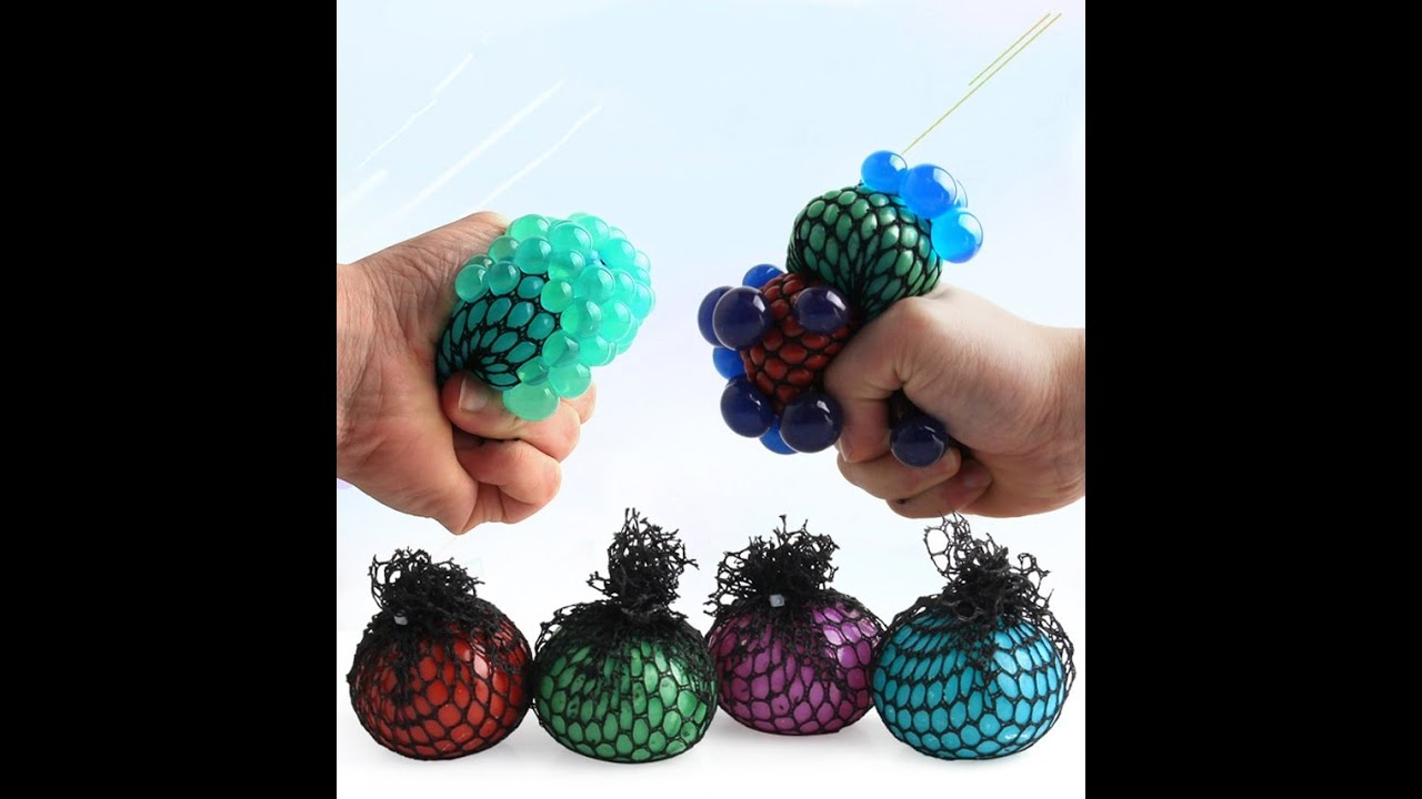 Cute Colorful Anti Stress Anxiety Squishy Squeeze Mesh Balls1