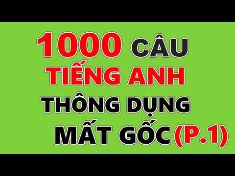 1000 Câu Tiếng Anh Thông Dụng Nhất Dành Cho Người Mất Gốc - Phần 1