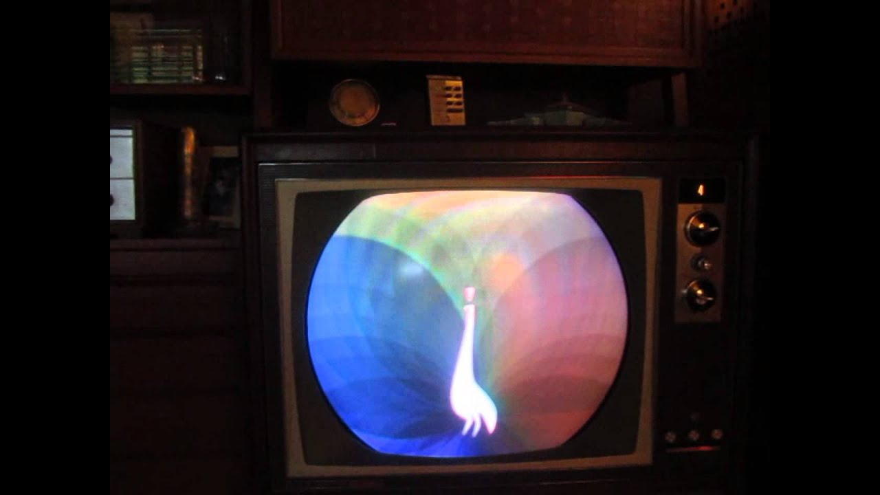 Nbc Peacock On My 1963 Rca Victor  U0026quot Atherton U0026quot  Color Tv  Ctc
