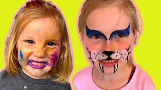 Šminkanje Kao Mačka i Mini Maus. Crtanje po licu (FACEPAINTING).