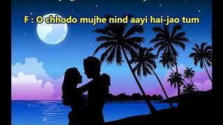 Hum tum gumsum raat milan ki - Ham Shakal - Full Karaoke Scrolling Lyrics