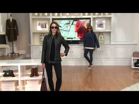 Isaac Mizrahi Live! SOHO Cable Quilted Nylon Jacket with Shawn Killinger