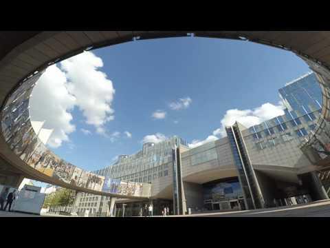 Brüksel Avrupa Parlamentosu (Timelapse) - Belçika