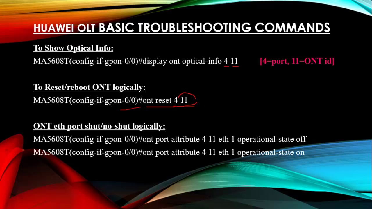 GPON Huawei OLT Basic Troubleshooting commands Part 1