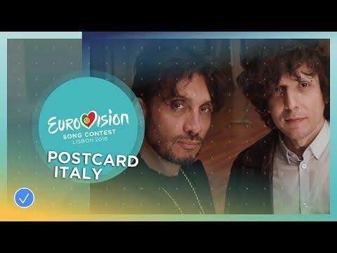 Postcard of Ermal Meta & Fabrizio Moro from Italy - Eurovision 2018