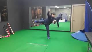 nc다이노스 김도환 선수 포수송구 개선영상