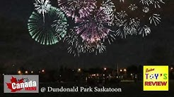 CANADA DAY 2018 - Fireworks show at Dundonald Park Saskatoon by Review Toys Review