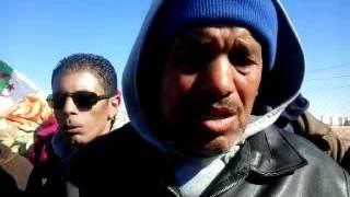أعوان الامن بمؤسسة النباهة بسوناطراك حاسي الرمل يواصلون إحتجاجهم في العراء