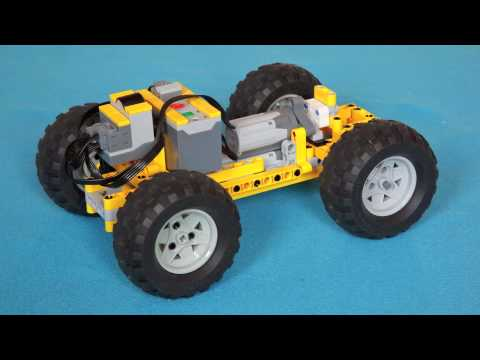 lego technic small 4wd car with dual m motor youtube. Black Bedroom Furniture Sets. Home Design Ideas