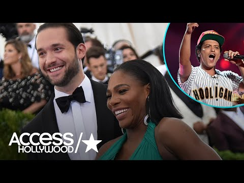 Serena Williams Fangirls Over Bruno Mars During Date Night With Fiancé Alexis Ohanian