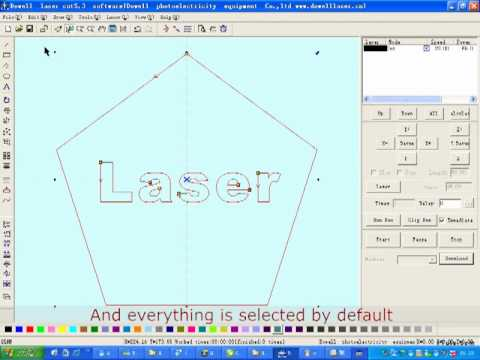 How to engrave stamp with LaserCut software, china laser machine
