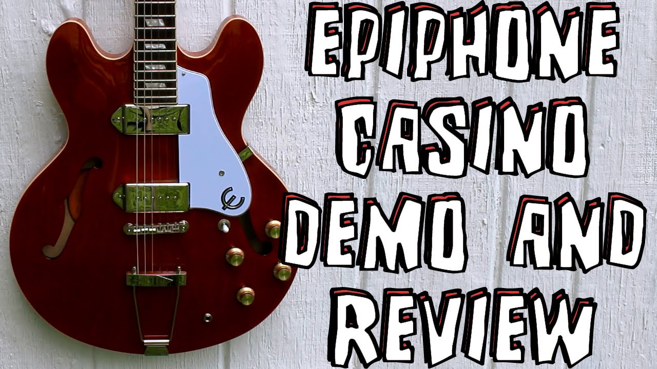 Epiphone Casino Electric Guitar Demo Review Youtube