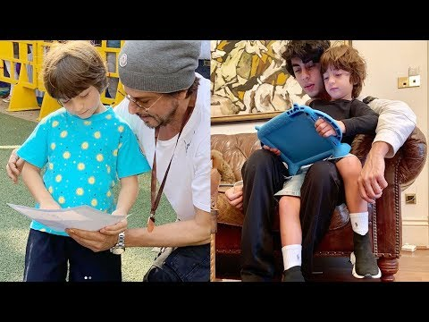 Must Watch : Shahrukh Khan With His Son Abram Khan & Aryan Khan Cute Video