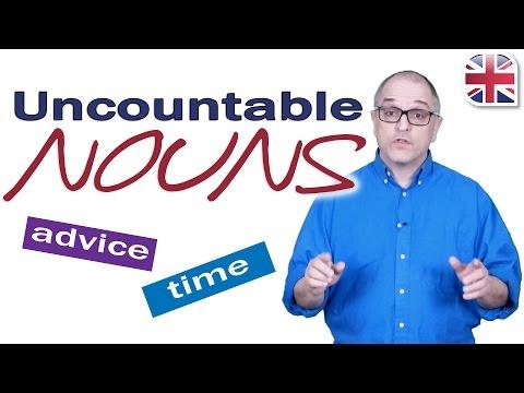 Uncountable Nouns - English Grammar Lesson