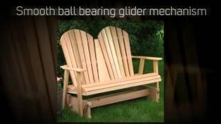 Amish Creek Furniture Adirondack 4ft. Red Cedar Outdoor Glid