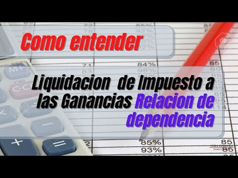 FORMA DE CALCULO: RETENCION GANANCIAS EMPLEADOS