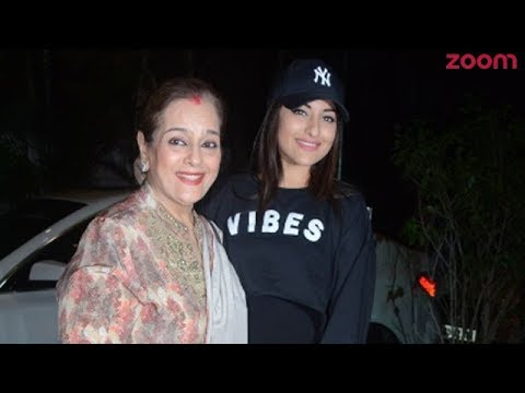 Sonakshi Sinha Poses With Her Mother At The Special Screening Of 'Welcome To New York'