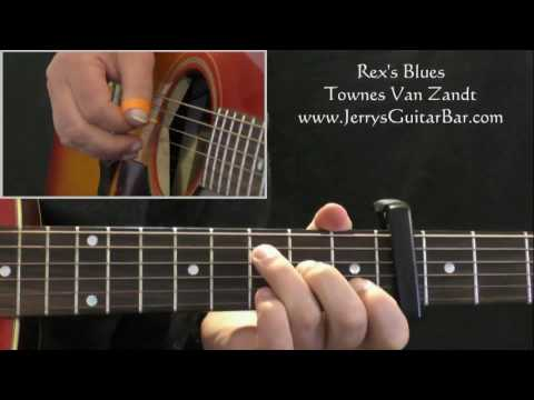 How To Play Townes Van Zandt Rex's Blues (intro only)