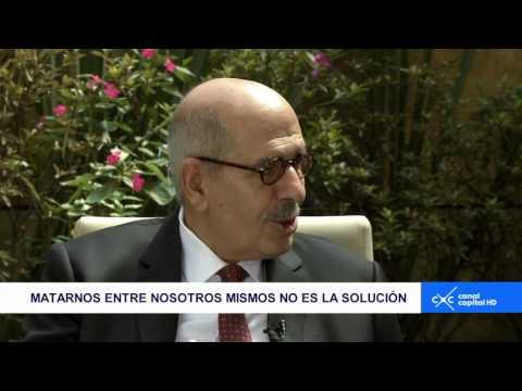 Entrevista Claudia Palacios - Mohamed ElBaradei, premio Nobel de Paz 2005