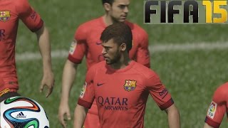 FIFA 15 Gameplay en PS4 - Barcelona Vs Chelsea - Pura  magia probando el juego