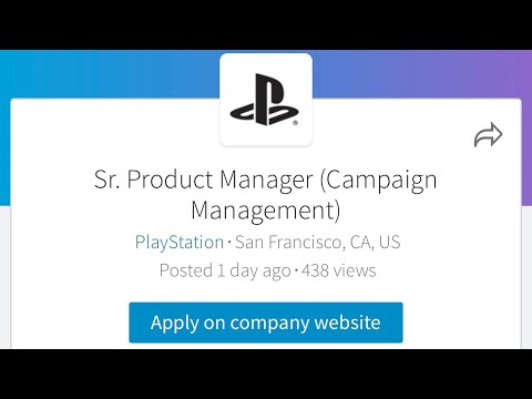 PS5 RELEASE DATE 2019 LOOK AT PlayStation Hiring Campaign Manager