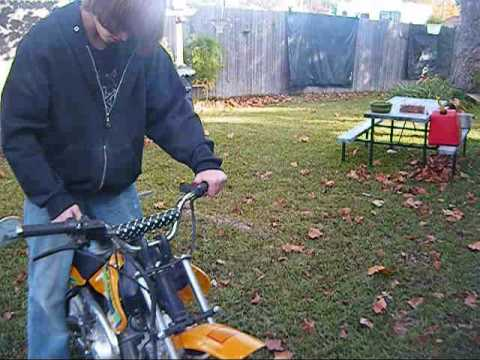 Cold start 70cc off brand dirt bike youtube sciox Gallery