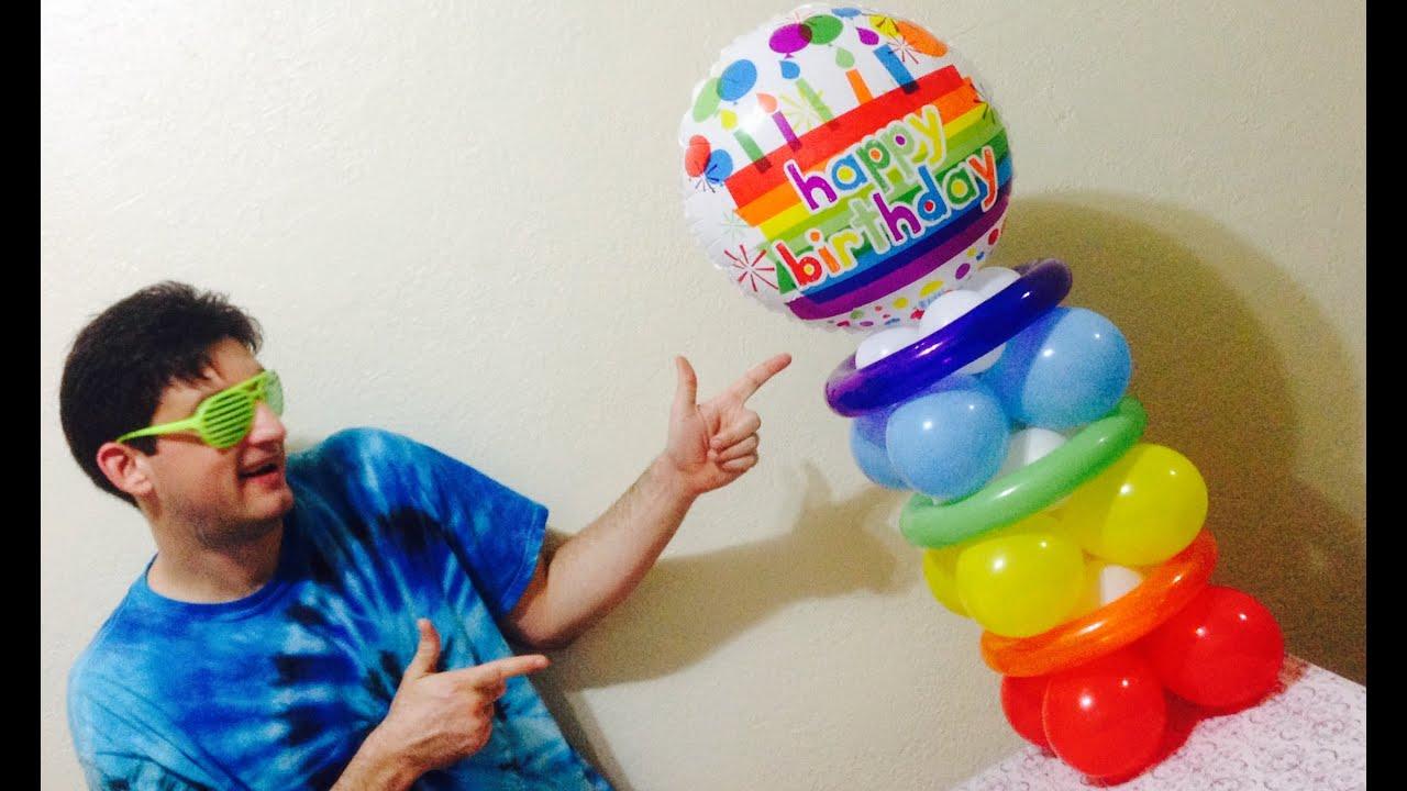 Happy Birthday Balloon Centerpiece YouTube