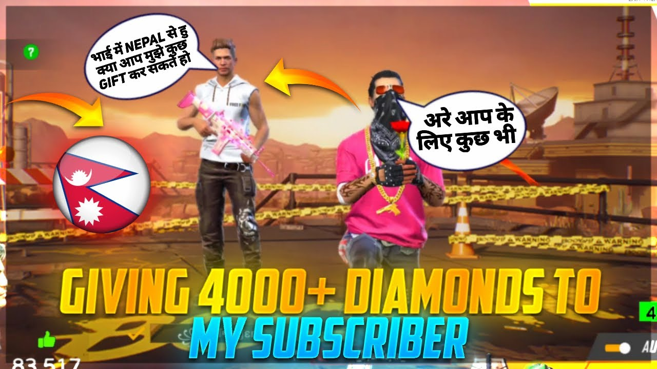 💎40000 Diamond Gift For Nepal 10 Years Boy   Crying Moment 😭   Garena Free Fire