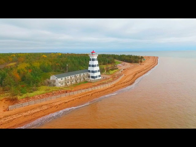 The West Point Lighthouse in the fall