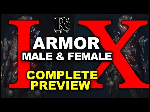 Mass Effect Andromeda - All Male and Female Research Armor I and X Preview