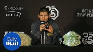 UFC champion Khabib Nurmagomedov apologises for post-fight brawl