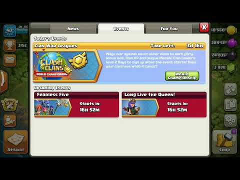 CLASH OF CLANS New Events Fearless Five And Long Live The Queen.