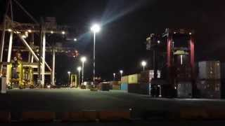 Night Time Container Movements at CentrePort