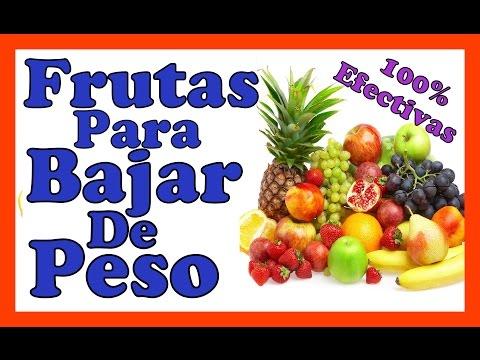 frutas para bajar de peso rápidamente
