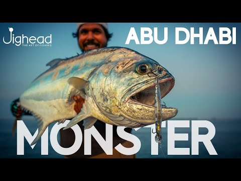 JIGHEAD TV: Shore Fishing Surprises In UAE - Monster Queenfish On Light Favorite Shooter