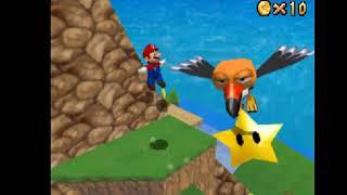 super mario 64 DS - parte 19: revancha contra koopa, el cóndor gorroso, monedas rojas en la cueva