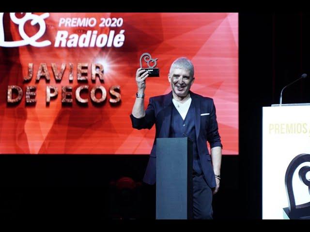 Javier de Pecos recibiendo el Premio Radiolé 2020