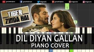Dil Diyan Gallan Song Tiger Zinda Hai | Piano Cover Chords Instrumental By Ganesh Kini
