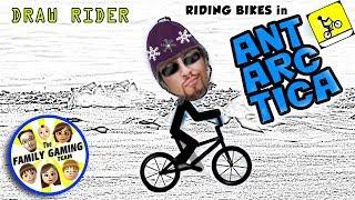 FGTEEV Rides a Bike in ANTARCTICA  (Draw Rider Mobile Game)