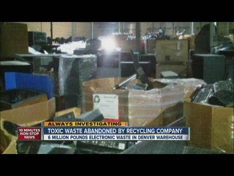 Toxic waste abandoned by recycling company